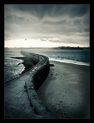 Romanova Nadia: 'way', 2009 Color Photograph, Seascape.   france bretagne sea seashore seaview way sky  ...