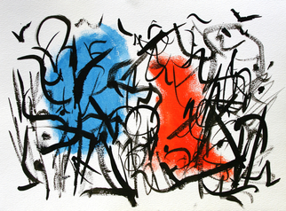 Artist: Engelina Zandstra - Title: Abstract composition 3 - Medium: Acrylic Painting - Year: 2008