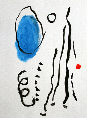 Artist: Engelina Zandstra - Title: Abstract composition 6 - Medium: Acrylic Painting - Year: 2008