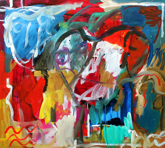 Artist: Engelina Zandstra - Title: Allegro 21 - Medium: Acrylic Painting - Year: 2010