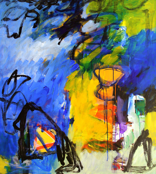 Artist: Engelina Zandstra - Title: Colorato 12 - Medium: Acrylic Painting - Year: 2010