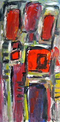 Acrylic Painting by Engelina Zandstra titled: Composition 3379, 2014