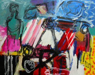 Acrylic Painting by Engelina Zandstra titled: Composition 4051, 2014