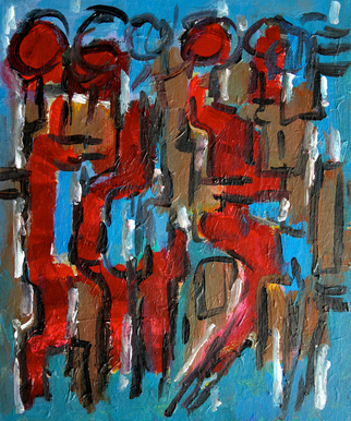 Engelina Zandstra Artwork Composition 4087, 2014 Composition 4087, Abstract Figurative