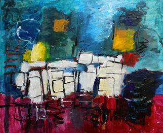 Engelina Zandstra Artwork Composition 4098, 2015 Composition 4098, Abstract Figurative