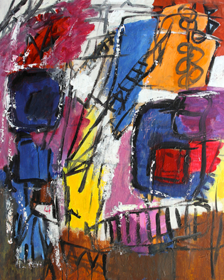 Engelina Zandstra Artwork Composition 4152, 2015 Composition 4152, Abstract Figurative
