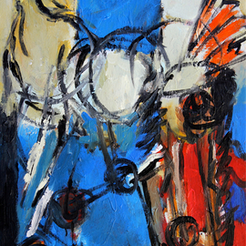Engelina Zandstra: 'Composition 4528', 2016 Acrylic Painting, Abstract Figurative. Artist Description:                                                                                                                                 I consider my works like music, they dont need words for explanation.The forms and colors composing it are the language of understanding.Each one tells its own tale, that can be different for each person looking at them.                                                                                                                                             landscape  composition  abstract  painting  canvas  modern  original  lyrical  figurative  ...
