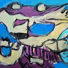 Engelina Zandstra: 'Composition 4556', 2016 Acrylic Painting, Abstract Figurative. Artist Description:                                                                                                                                    I consider my works like music, they dont need words for explanation.The forms and colors composing it are the language of understanding.Each one tells its own tale, that can be different for each person looking at them.                                                                                                                                             landscape  composition  abstract  painting  canvas  modern  original  lyrical  figurative  ...