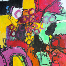 Engelina Zandstra: 'Composition 4622', 2016 Acrylic Painting, Abstract Figurative. Artist Description:                                                                                                                                            I consider my works like music, they dont need words for explanation.The forms and colors composing it are the language of understanding.Each one tells its own tale, that can be different for each person looking at them.                                                                                                                                             landscape  composition  abstract  painting  canvas  modern  original  lyrical  figurative  ...