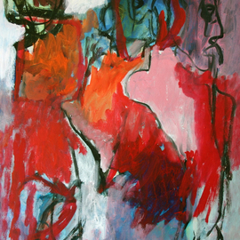 Engelina Zandstra: 'Composition 777', 2007 Acrylic Painting, Abstract Figurative. Artist Description:                                                                                                                           I consider my works like music, they dont need words for explanation.The forms and colors composing it are the language of understanding.Each one tells its own tale, that can be different for each person looking at them.                                                                                                                                             landscape  composition  abstract  painting  canvas  modern  original  lyrical  figurative  ...