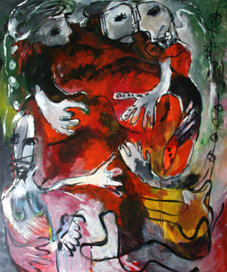 Engelina Zandstra Artwork Composition 859, 2003 Composition 859, Abstract Figurative