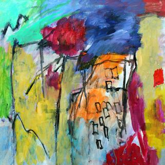 Artist: Engelina Zandstra - Title: Concerto 21 - Medium: Acrylic Painting - Year: 2010