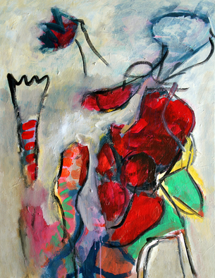 Artist: Engelina Zandstra - Title: Dialogue 11 - Medium: Acrylic Painting - Year: 2010