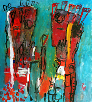 Artist: Engelina Zandstra - Title: Dialogue 6 - Medium: Acrylic Painting - Year: 2010
