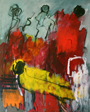 Artist: Engelina Zandstra - Title: Largo 6 - Medium: Acrylic Painting - Year: 2009