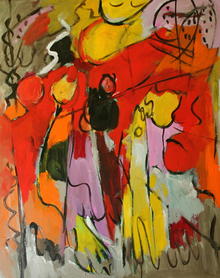 Artist: Engelina Zandstra - Title: Largo 7 - Medium: Acrylic Painting - Year: 2009