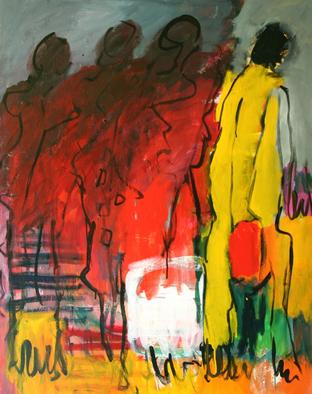 Artist: Engelina Zandstra - Title: Musica 9 - Medium: Acrylic Painting - Year: 2009