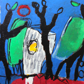 Engelina Zandstra Artwork compositie 4588, 2016
