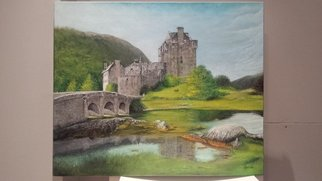 Enrique Fernandez Monteagudo Artwork eilean donan, 2017 Oil Painting, Architecture