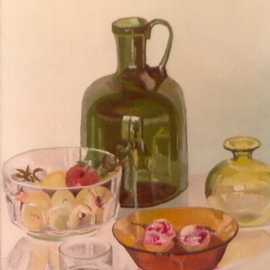 Maria Teresa Fernandes Artwork Bacchin Collection, 1981 Oil Painting, Food