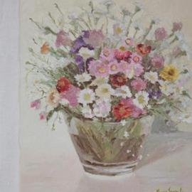 Maria Teresa Fernandes Artwork Cris Lopes Badra Collection, 1980 Oil Painting, Floral