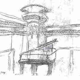 Maria Teresa Fernandes: 'Escola Municipal de Musica SP by ebf', 2005 Other Drawing, Music. Artist Description:  this nice and intimate auditorium allows you with a close contact with the teachers who play there refined music every Saturday, as the Trio Images and others ...