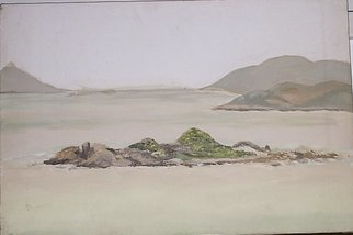 Maria Teresa Fernandes Artwork Guaruja  isle, 1971 Watercolor, Seascape