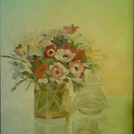 Maria Teresa Fernandes Artwork Guizellini Collection, 1980 Oil Painting, Floral