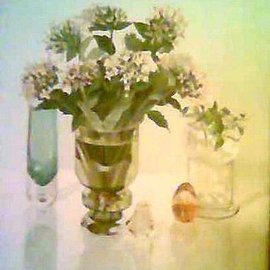 Maria Teresa Fernandes Artwork Guizellini Collection, 1984 Oil Painting, Floral