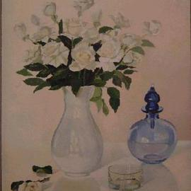 Maria Teresa Fernandes Artwork Joinville Museum Collection, 1980 Oil Painting, Floral