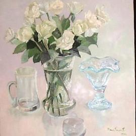 Maria Teresa Fernandes Artwork Lerro Collection, 1996 Oil Painting, Floral
