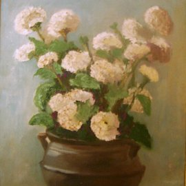 Maria Teresa Fernandes: 'Lerro Collection', 1968 Oil Painting, Floral. Artist Description:  a special care on everypetal wich isdifferent from the others ...