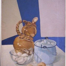 Maria Teresa Fernandes Artwork Limeira Museum Collection, 1973 Oil Painting, Food
