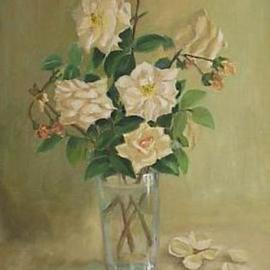 Maria Teresa Fernandes Artwork Pinheiro Santana Collection, 1967 Oil Painting, Floral