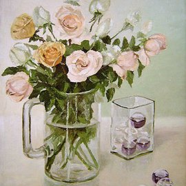 Maria Teresa Fernandes Artwork Ribeiro Collection, 1978 Oil Painting, Floral