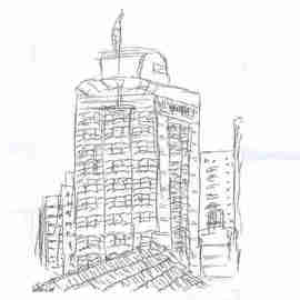 Maria Teresa Fernandes Artwork The Capital I see by ebf, 2006 Other Drawing, Cityscape