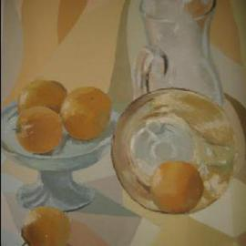 Maria Teresa Fernandes: 'Trabulsi Collection', 1974 Oil Painting, Food. Artist Description: to combine hues to get harmony means hard work to the painter ( photo by kindness of D. Gebara from Bauru ) ...