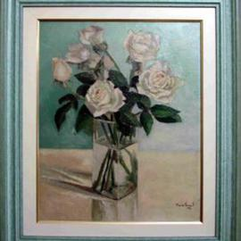 Maria Teresa Fernandes Artwork Valentim Mesquita Collection, 1974 Oil Painting, Floral