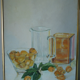 Maria Teresa Fernandes: 'Yoshida  Collection', 1979 Oil Painting, Food. Artist Description: