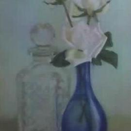 Maria Teresa Fernandes Artwork Zuzu and Vava Lerro Collection, 1968 Oil Painting, Floral