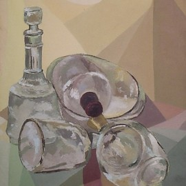bottles and cubism