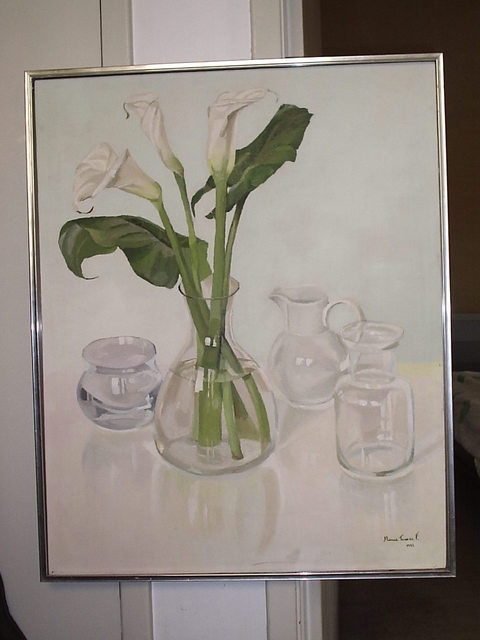 Maria Teresa Fernandes  'Callas And 3 Jugs', created in 1982, Original Drawing Pencil.