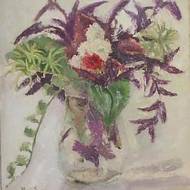 Maria Teresa Fernandes Artwork falling stems, 1971 Oil Painting, Floral