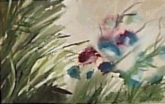 Maria Teresa Fernandes Artwork flowers of various colours, 1980 Watercolor, Fashion