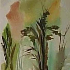 Maria Teresa Fernandes: 'forest embryo', 1980 Oil Painting, Science. Artist Description: to work with colours in wet watercoloris a must for the painter...