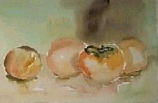 Maria Teresa Fernandes Artwork fruits, 1980 Watercolor, Nature