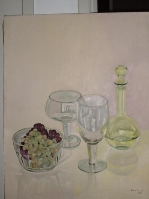 Maria Teresa Fernandes  'Grapes And Crystals', created in 1982, Original Drawing Pencil.