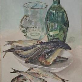 herrings and bottle