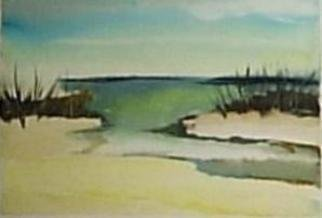 Maria Teresa Fernandes Artwork high tide, 1980 Watercolor, Sceanic