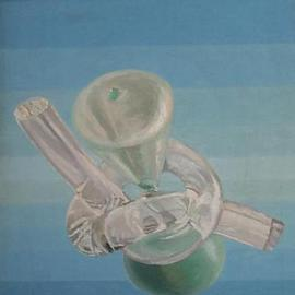 Maria Teresa Fernandes: 'hold time', 1983 Oil Painting, Philosophy. Artist Description: two media, plastic and glass, a challenge to represent...